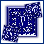 One Color Monogram PQR